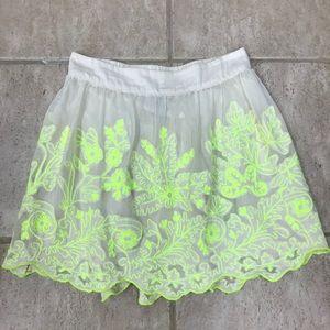 Anthropologie Vanessa Virginia Electric Vine Skirt
